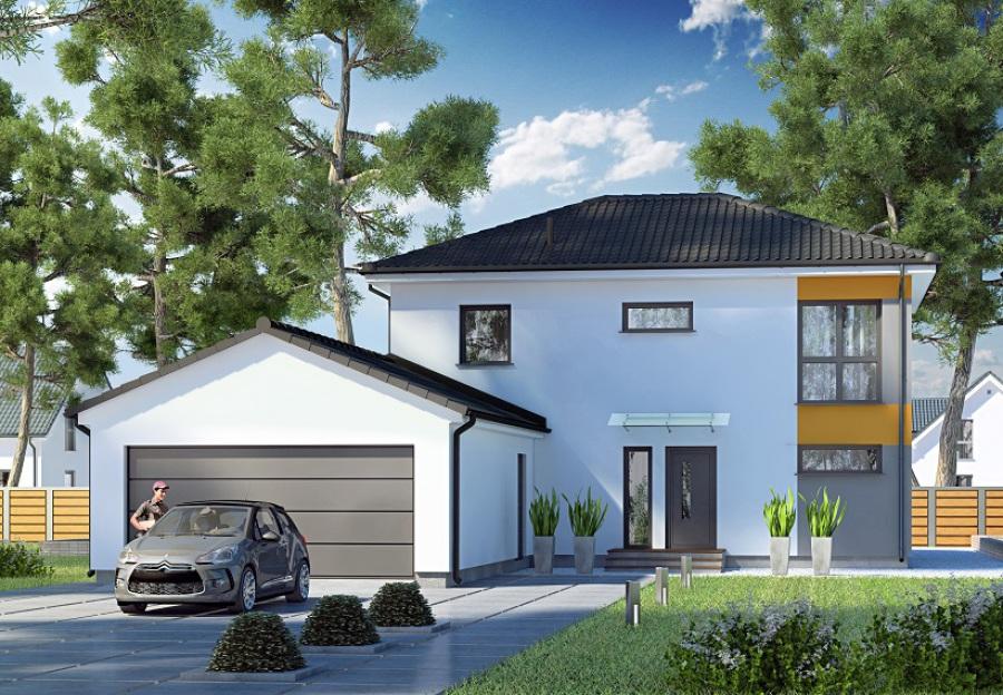 Elegant Moderne Huser Satteldach Mit Garage Mbnhaus Garagen With Modernes  Mit Satteldach.